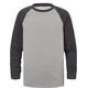 Craghoppers NosiLife Barnaby Langærmet T-shirt Børn grå/sort